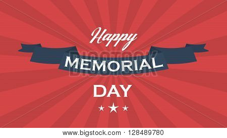 Memorial day vector background. Memorial day vector poster.