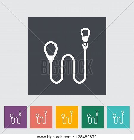 Leash icon. Flat vector related icon for web and mobile applications. It can be used as - logo, pictogram, icon, infographic element. Vector Illustration.
