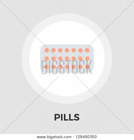 Contraceptive pills icon vector. Flat icon isolated on the white background. Editable EPS file. Vector illustration.