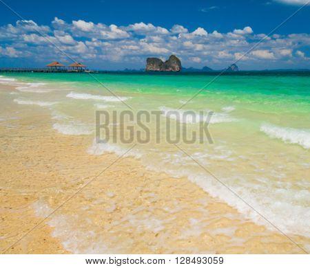 On a Beach In a Sunny Paradise
