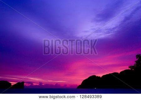Sunset Glow Darkening Heavens