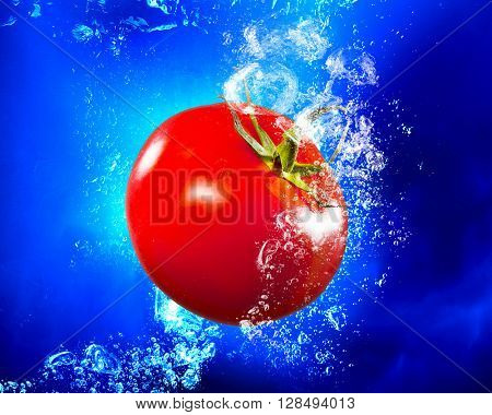 Fresh juicy tomato