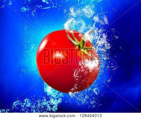 Fresh juicy tomato