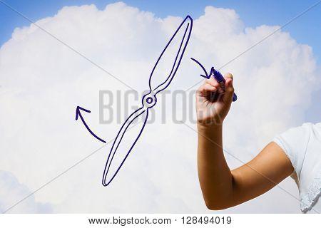Plane propeller drawing