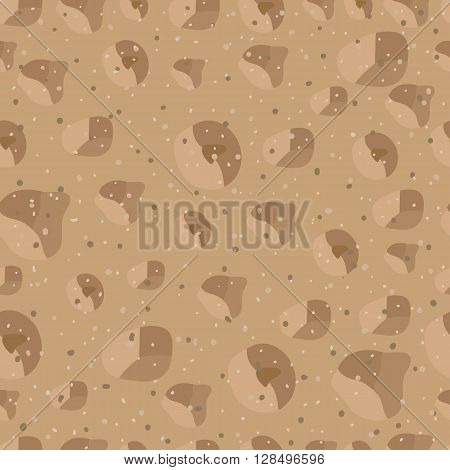 Sand seamless pattern. Vector illustration sand texture