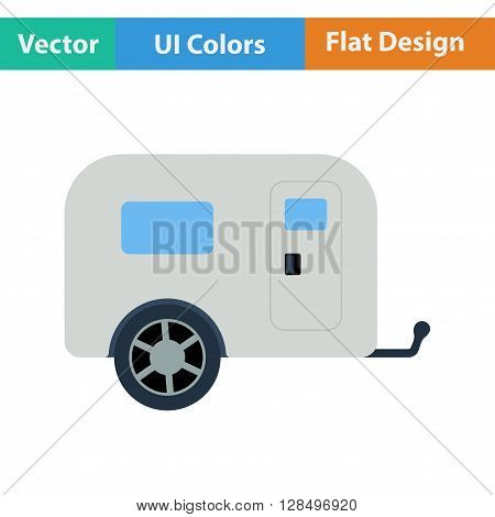 Icon Of Camping Family Caravan Car
