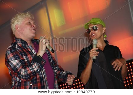 Russian pop star, singer Boris Moiseyev and Laima Vaikule
