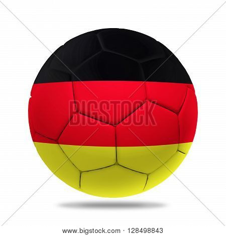 3D soccer ball with Germany team flag isolated on white