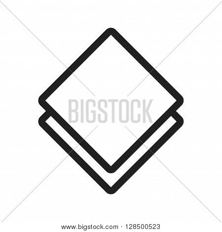 Table, kitchen, napkin icon vector image. Can also be used for kitchen. Suitable for use on web apps, mobile apps and print media.