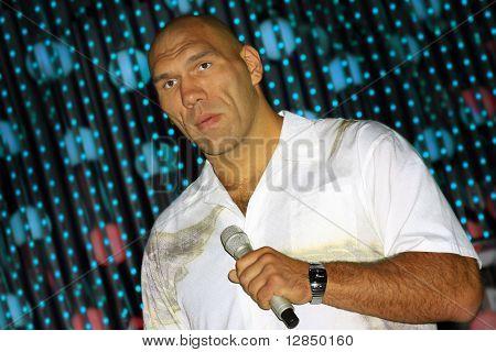The Russian boxer Nikolai Valuev