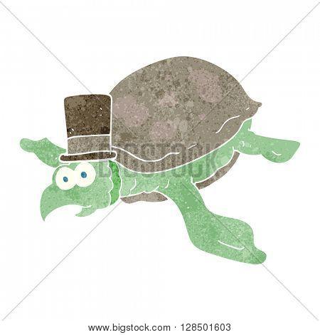 freehand retro cartoon turtle