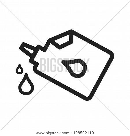Oil, engine, car icon vector image. Can also be used for car servicing. Suitable for use on web apps, mobile apps and print media.