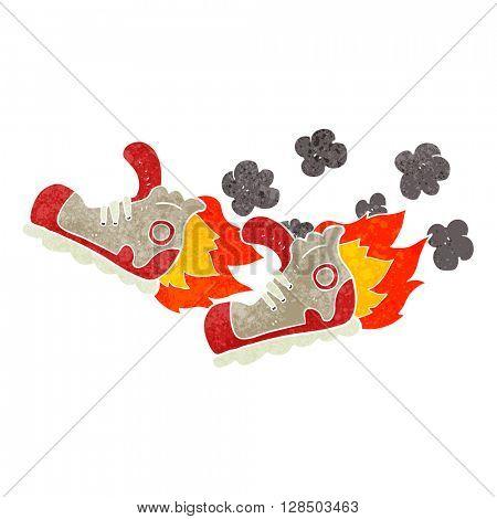 freehand retro cartoon super fast sneakers
