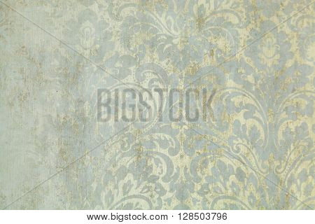 wallpaper with the made old flower drawing