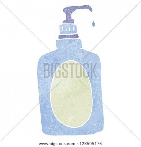 freehand retro cartoon hand soap