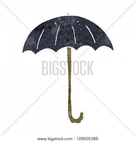 freehand retro cartoon umbrella