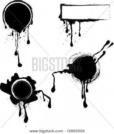Vector black stamps for design. For download all my pattern - search