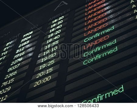 Flight Board Airport Flight status Information Background
