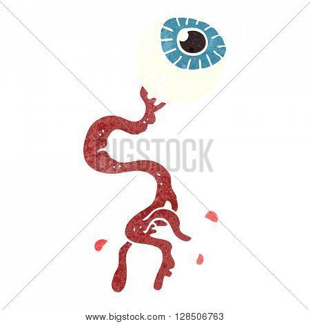 freehand retro cartoon gross eyeball
