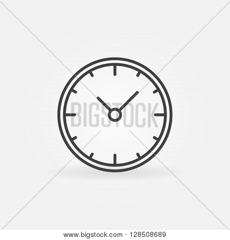 Wall clock icon - vector linear clock sign or logo element