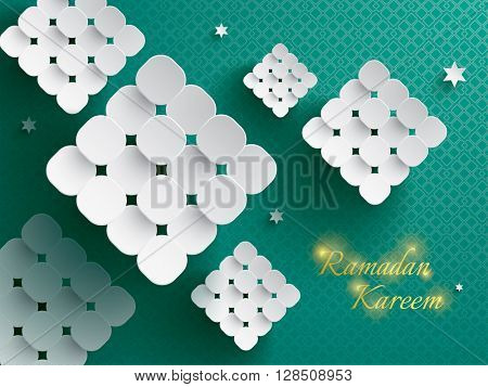 Paper graphic of ketupat (rice dumpling).