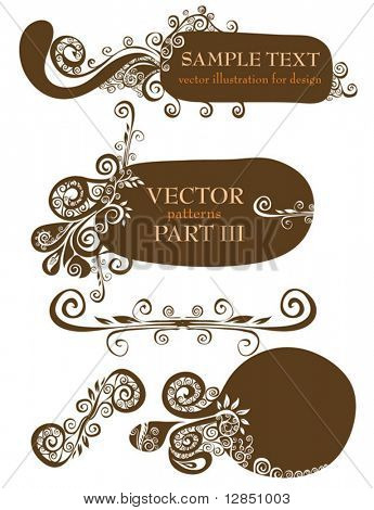 Retro vector abstract patterns for design. Ornate for background.
