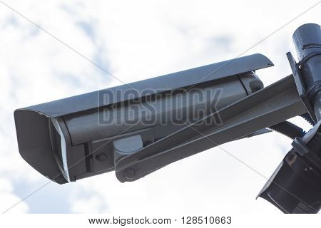camera mounted on a pole to oversee
