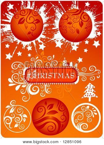 Christmas elements for design. Abstract pattern for background.