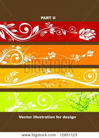 Abstract retro pattern for design. Floral ornament for background.