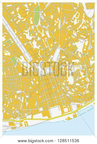 vector downtown map of the Portuguese capitals lisbon