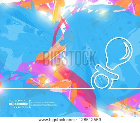 Creative vector nipple. Art illustration template background. For presentation, layout, brochure, logo, page, print, banner, poster, cover, booklet, business infographic, wallpaper, sign, flyer.