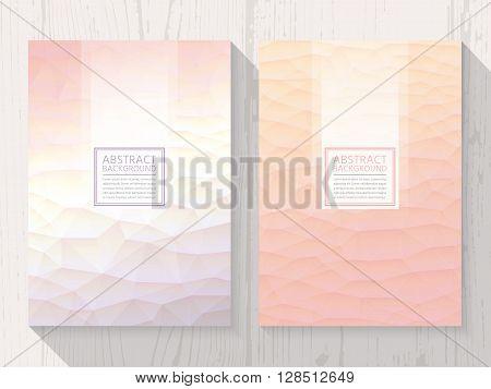 Pastel modern peach colour background set. Trendy background pastel colours.