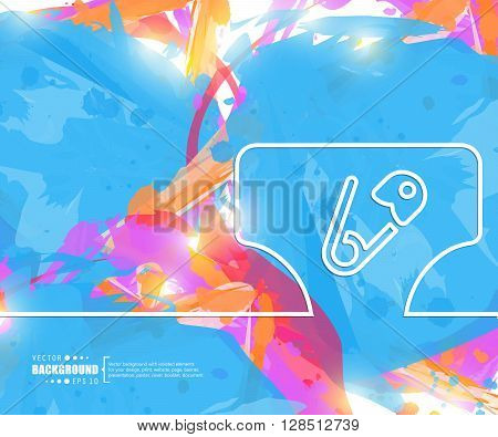 Creative vector diaper. Art illustration template background. For presentation, layout, brochure, logo, page, print, banner, poster, cover, booklet, business infographic, wallpaper, sign, flyer.
