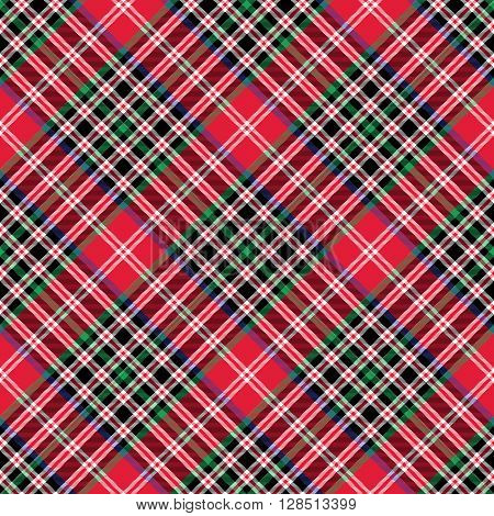 Kemp tartan fabric texture check diagonal seamless pattern.Vector illustration. EPS 10. No transparency. No gradients.