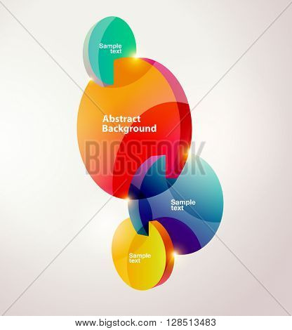 Composition of colorful circles..