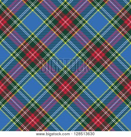 macbeth tartan kilt fabric texture diagonal seamless pattern.Vector illustration. EPS 10. No transparency. No gradients.