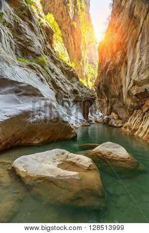 Amazing view of Goynuk canyon, Antalia, Turkey