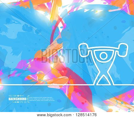 Creative vector heavy athletics. Art illustration template background. For presentation, layout, brochure, logo, page, print, banner, cover, booklet, business infographic, wallpaper, sign, flyer.