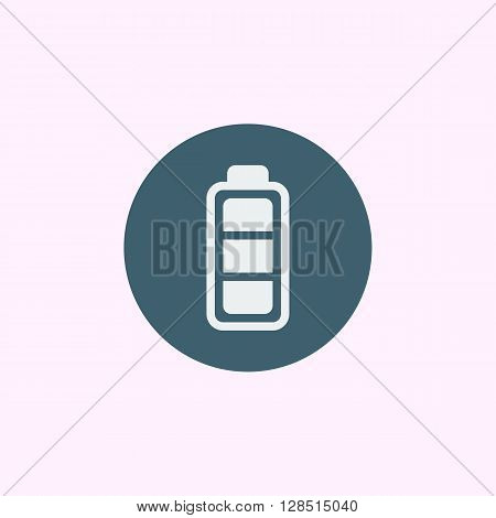 Battery Icon In Vector Format. Premium Quality Battery Symbol. Web Graphic Battery Sign On Blue Circ