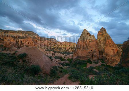 Amazing sunrise in Cappadocia, Turkey