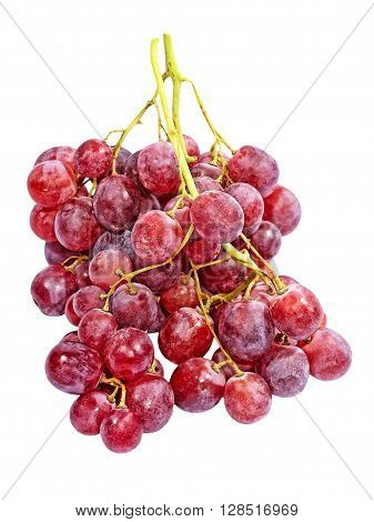 The Pink grape isolated on white background.