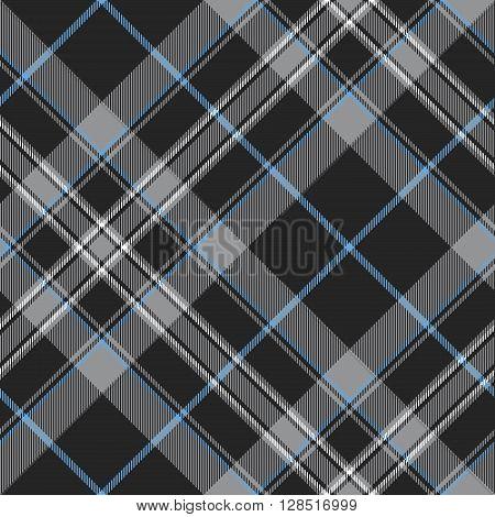 Pride of scotland platinum kilt tartan diagonal seamless pattern .Vector illustration. EPS 10. No transparency. No gradients.