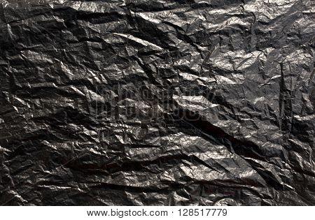 Black Plastic Bag Texture.