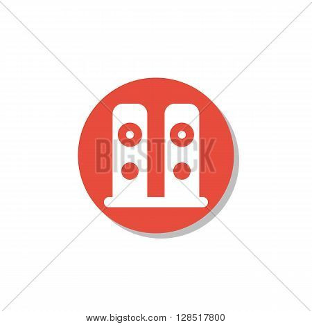 Speakers Icon In Vector Format. Premium Quality Speakers Symbol. Web Graphic Speakers Sign On Red Ci