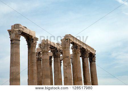 Temple of Olympian Zeus , Athens , Greece .
