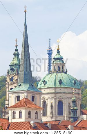 Czech Repunlic Prague - Spires of Lesser Quarter and St. Nicholas Church