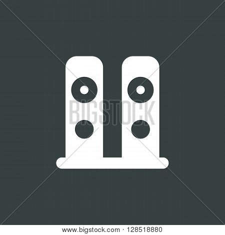 Speakers Icon In Vector Format. Premium Quality Speakers Symbol. Web Graphic Speakers Sign On Dark B