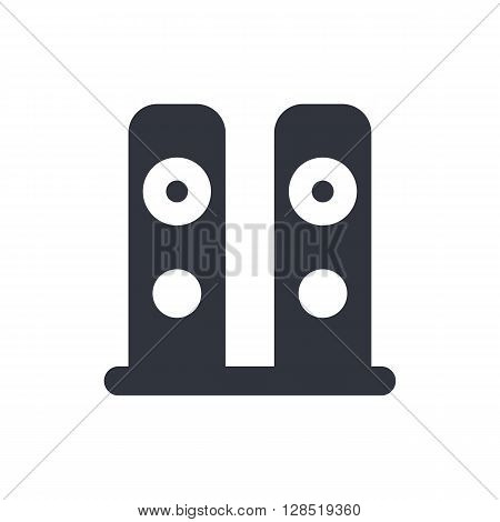 Speakers Icon In Vector Format. Premium Quality Speakers Symbol. Web Graphic Speakers Sign On White