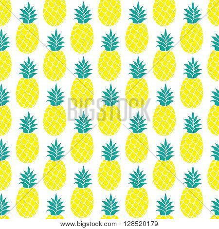Pineapple vector background. Pineapple seamless pattern. Pineapple textile pattern. Pineapple repeating background, Summer colorful pineapple textile print. Pineapple background for scrapbooking.