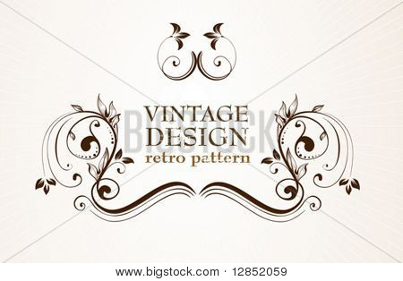 Abstract antique frame for design.